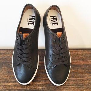 FRYE Rare! Maya Low Lace Sneaker Black Leather